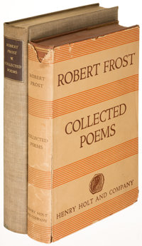Robert Frost. Collected Poems. New York: 1930. First edition, limited and trade issues