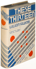 Books:Literature 1900-up, William Faulkner. These Thirteen. New York: [1931]. Firstedition....