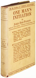 Books:Literature 1900-up, John Dos Passos. One Man's Initiation--1947. New York: 1922.First U. S. edition....
