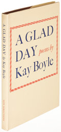 Books:Literature 1900-up, Kay Boyle. A Glad Day. Norfolk: 1938. First edition,inscribed....