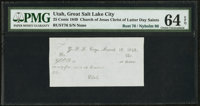 Great Salt Lake City, UT - Valley Scrip 25¢ Mar. 28, 1849 Remainder Rust 76 Nyholm 96