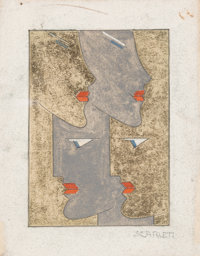 Rolph Scarlett (Canadian, 1889-1984) Untitled Mixed media on board 5-1/2 x 4-3/8 inches (14.0 x 1