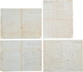 Autographs:Military Figures, Isaac Van Duzer Reeve Letters (4) Written During the Civil War.... (Total: 4 Items)