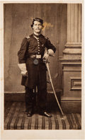 Photography:CDVs, Henry E. Evans Carte de Visite of the Union 1st Texas Cavalry....