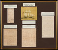 Miscellaneous, Republic of Texas Navy: Four Documents Related to the Bounty of theCaptured Ana Maria by the Schooner San A...