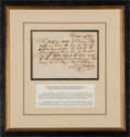 Autographs:Military Figures, Albert Sidney Johnston Document Signed as Secretary of War of the Republic of Texas. ...