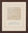 Autographs, [Old Three Hundred]. John P. Coles Autograph Document Signed....