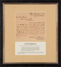 Autographs:Statesmen, Mirabeau Lamar Autograph Letter Signed as Secretary of War....