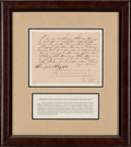 Autographs, [Jim Bowie]. Angus McNeill Document Signed....