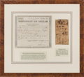 Autographs, Republic of Texas Public Debt Certificate Issued to Mansell W.Matthews and Republic of Texas Note Endorsed ...