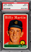 Baseball Cards:Singles (1950-1959), 1958 Topps Billy Martin #271 PSA Mint 9 - None Higher....