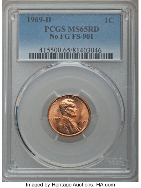1969 D 1C MS Coin Auctions And Prices Realized | NGC