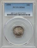 Barber Dimes: , 1898 10C MS66 PCGS. PCGS Population: (40/5). NGC Census: (17/7). CDN: $675 Whsle. Bid for problem-free NGC/PCGS MS66. Minta...