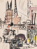 Fine Art - Work on Paper:Watercolor, Joseph Solman (American/Russian, 1909-2008). New York, 1941.Gouache on paper. 12 x 9 inches (30.5 x 22.9 cm) (sheet). I...