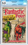 Silver Age (1956-1969):Superhero, Fantastic Four #12 (Marvel, 1963) CGC FN- 5.5 Cream to off-white pages....