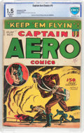 Golden Age (1938-1955):War, Captain Aero Comics #5 (Holyoke Publications, 1942) CBCS FR/GD 1.5Off-white to white pages....