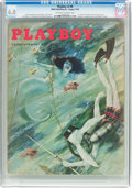 Magazines:Vintage, Playboy V2#8 (HMH Publishing, 1955) CGC FN 6.0 Off-white to white pages....