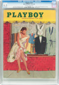 Magazines:Vintage, Playboy V2#6 (HMH Publishing, 1955) CGC FN+ 6.5 Off-white to white pages....