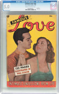 Golden Age (1938-1955):Romance, Fox Giant: Famous Love (Fox Features Syndicate, 1950) CGC VG/FN 5.0Cream to off-white pages....