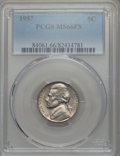 Jefferson Nickels, 1957 5C MS66 Full Steps PCGS. PCGS Population: (25/0). ...