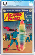 Golden Age (1938-1955):Superhero, Action Comics #162 (DC, 1951) CGC VF- 7.5 White pages....
