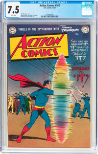 Action Comics #162 (DC, 1951) CGC VF- 7.5 White pages