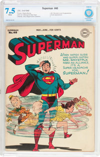 Superman #40 (DC, 1946) CBCS VF- 7.5 White pages