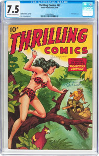 Thrilling Comics #67 (Better Publications, 1948) CGC VF- 7.5 Off-white to white pages