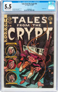 Golden Age (1938-1955):Horror, Tales From the Crypt #44 (EC, 1954) CGC FN- 5.5 Off-white to whitepages....
