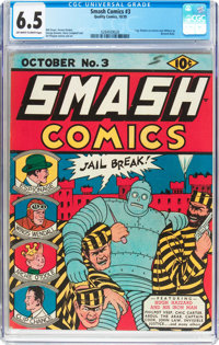 Smash Comics #3 (Quality, 1939) CGC FN+ 6.5 Off-white to white pages