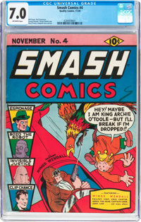 Smash Comics #4 (Quality, 1939) CGC FN/VF 7.0 Off-white pages