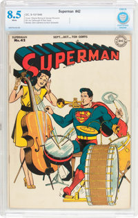 Superman #42 (DC, 1946) CBCS VF+ 8.5 White pages