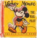 Platinum Age (1897-1937):Miscellaneous, Big Little Book #731 Mickey Mouse The Mail Pilot - Variant Copy (Whitman, 1933) Condition: FR/GD....