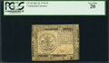 Colonial Notes:Continental Congress Issues, Continental Currency July 22, 1776 $5 PCGS Very Fine 20.. ...