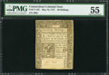Colonial Notes:Connecticut, Connecticut May 10, 1775 40s Uncancelled PMG About Uncirculated55.. ...