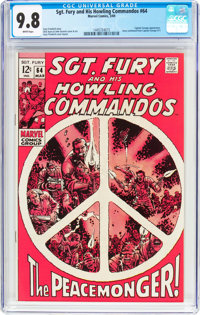 Sgt. Fury and His Howling Commandos #64 (Marvel, 1969) CGC NM/MT 9.8 White pages
