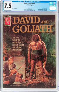 Four Color #1205 David and Goliath (Dell, 1961) CGC VF- 7.5 Off-white pages