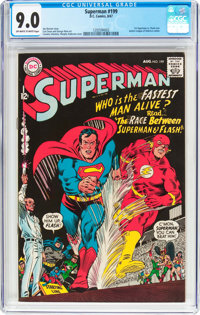 Superman #199 (DC, 1967) CGC VF/NM 9.0 Off-white to white pages