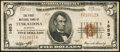 National Bank Notes:Alabama, Tuscaloosa, AL - $5 1929 Ty. 1 The First NB Ch. # 1853. ...