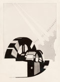 Fine Art - Work on Paper:Drawing, Henry Grant (American, 20th Century). Industrial Design forHydroelectric Plant. Ink and pencil on paper. 11-3/8 x 8-1/2...