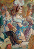 Fine Art - Painting, American, Don Freeman (American, 1908-1978). Night Life. Oil on board. 29-3/4 x 21 inches (75.6 x 53.3 cm). Signed and titled on t...