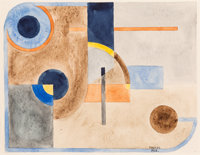 Paul Kelpe (American, 1902-2002) Untitled (Abstract), 1926 Watercolor on paper 7-3/4 x 9-7/8 inch