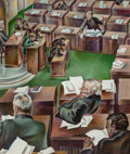 Fine Art - Painting, European:Modern  (1900 1949)  , Peppino Mangravite (American, 1896-1978). The Senate inSession, circa 1926. Oil on canvas. 34-1/4 x 29-1/4 inches (87x...