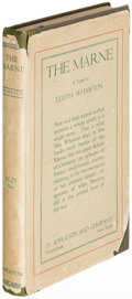 Books:Literature 1900-up, Edith Wharton. The Marne. New York: 1918. Firstedition....