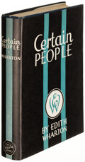 Books:Literature 1900-up, Edith Wharton. Certain People. New York: 1930. Firstedition....
