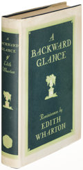 Books:Literature 1900-up, Edith Wharton. A Backward Glance. New York: 1934. Firstedition....