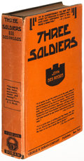 Books:Literature 1900-up, John Dos Passos. Three Soldiers. New York: [1921]. Firstedition, inscribed to a friend and fellow author....