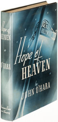 Books:Fiction, John O'Hara. Hope of Heaven. New York: [1938]. Firstedition....
