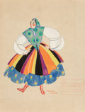 Fine Art - Work on Paper:Watercolor, Freddy Wittop (American, 1900-1999). Set of Seven CostumeDesigns for the Folies Bergère. Gouache on paper, each.11-3/4... (Total: 7 Items)