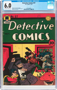 Detective Comics #57 (DC, 1941) CGC FN 6.0 Off-white to white pages